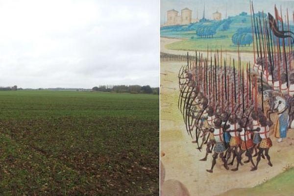 Ces champs labourés d'Azincourt ont été le théâtre d'une des plus féroces bataille du Moyen-Âge en 1415.