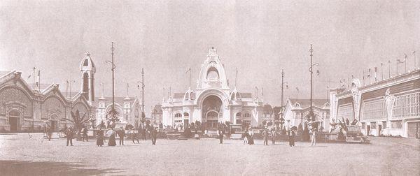 Exposition Internationale de l'Est de la France - vue générale sur les palais, Nancy, Lorraine, France