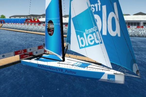 Emmanuel est en partenariat avec France Bleue Poitou pour ce Vendée Globe 2020