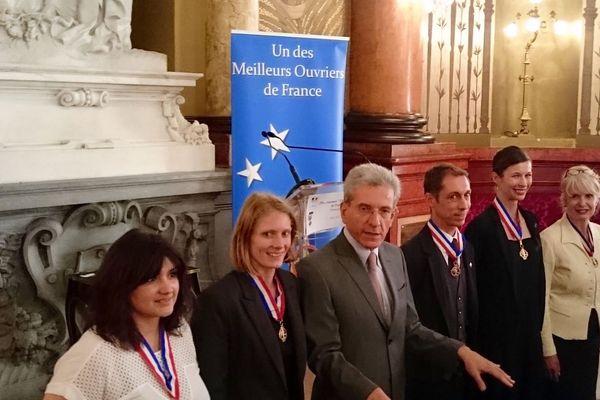 Réception des MOF par le préfet des Alpes-maritimes (Au centre) ce mercredi 27 mai.