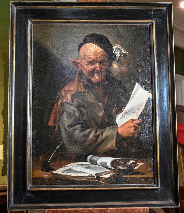 """Le tableau, intitulé """"Un philosophe: l'heureux géomètre"""""""