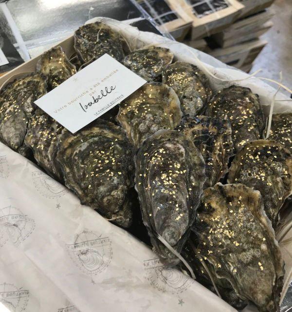 """La """"sélection or"""", l'huître sertie d'or 22 carats"""