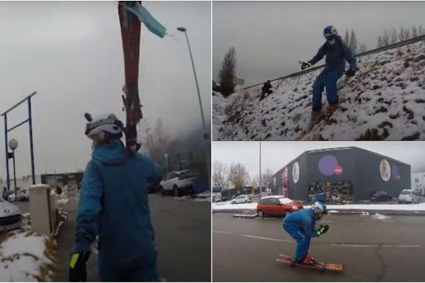 Florentin Le Provost a diffusé une vidéo où il ski à l'Espace Comboire pour dénoncer la fermeture des remontées mécaniques.