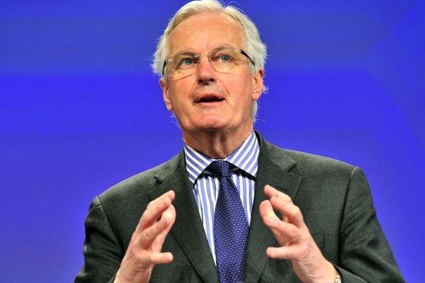Michel Barnier, le 09/04/2014 à Bruxelles
