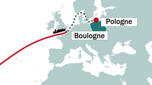Le rafiot, battant pavillon moldave, avait pour destination finale la Pologne.