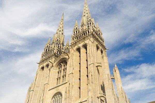 La cathédrale Saint-Corentin de Quimper.