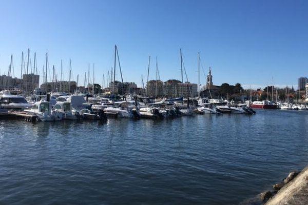 Le port d'Arcachon où se tient le salon nautique