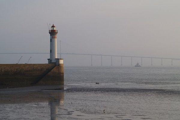 Marée basse à Saint-Nazaire