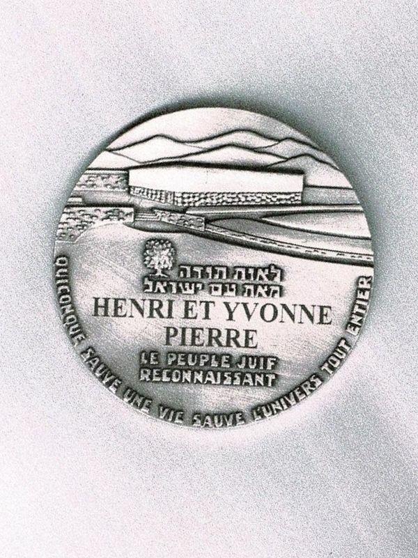 La médaille des Justes sera remise dimanche 3 octobre à Chantal Lireau, la petite-fille d'Yvonne Pierre