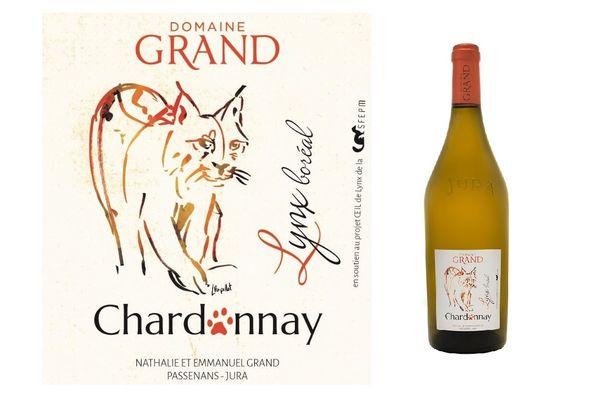 Le Domaine Grand de Passavant a créé une bouteille de chardonnay à l'effigie du lynx boréal
