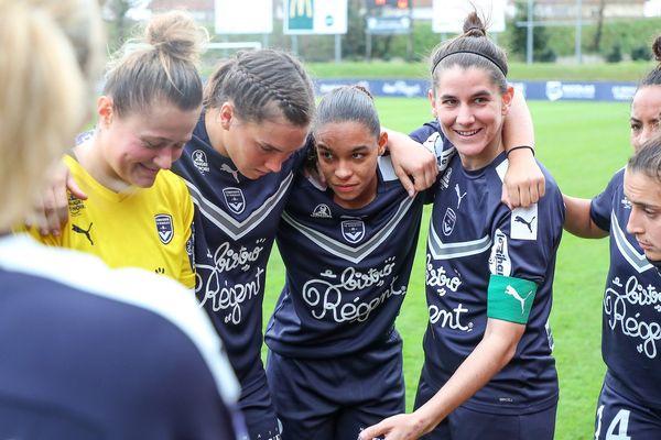 L'équipe féminine des Girondins de Bordeaux 2019-2020