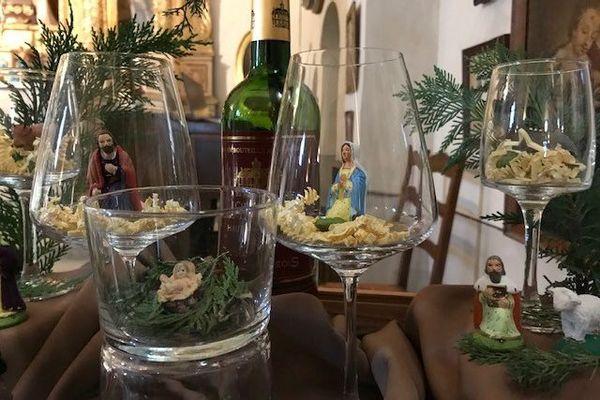 Création autour de la crèche, à découvrir à la chapelle de la Garoupe !