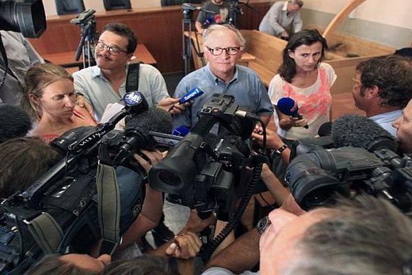 Perpignan : Bruno Lenormand, procureur-adjoint en conférence de presse avec les journalistes - 5 août 2013.
