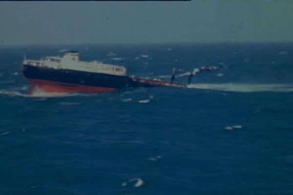 Le naufrage du Tanio au large de la Bretagne, le 7 mars 1980
