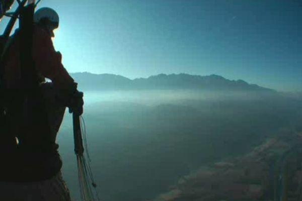 """""""Le nid"""", un film réalisé par les passionnés de parapente de St Hilaire-du-Touvet, programmé par le festival en 2010."""