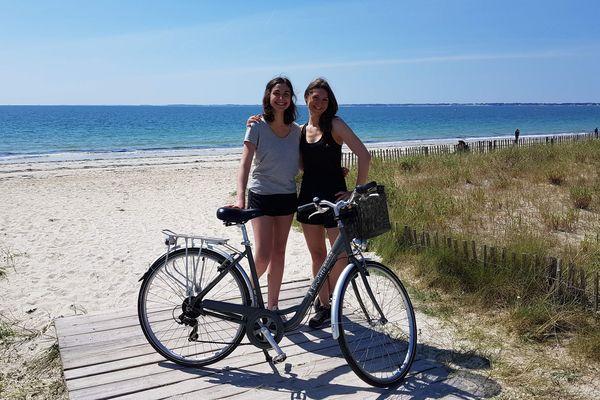 Amandine et Lucie partiront du 11 au 15 août sur les routes entre la Rochelle et Vannes