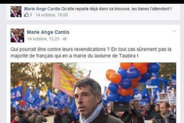 Marie-Ange Cardis, adjointe aux affaires scolaires de Talant, en Côte-d'Or, a tenu des propos insultants sur la garde des Sceaux.