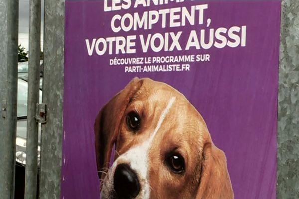 L'affiche de campagne aux Européennes 2019 du Parti animaliste