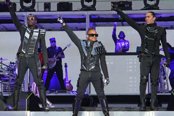 Les Black Eyed Peas lors de leur concert au stade de France en 2011.