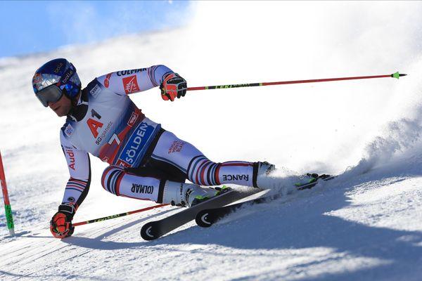 Alexis Pinturault, lors du premier géant de la saison, à Sölden, le 18 octobre 2020.