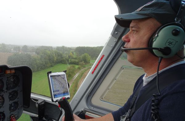 Jean-Maurice Martin, pilote d'hélicoptère chevronné