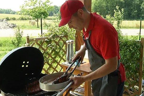 Alexandre Huron, triple champion de France de Barbecue