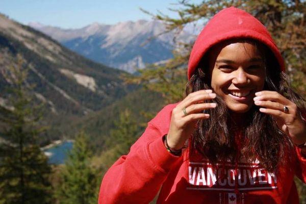 La jeune Française est passée aux Etats-Unis sans le savior en faisant son jogging.