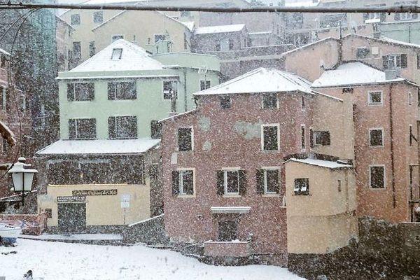 La Ligurie plus belle que jamais sous la neige ce 23 janvier