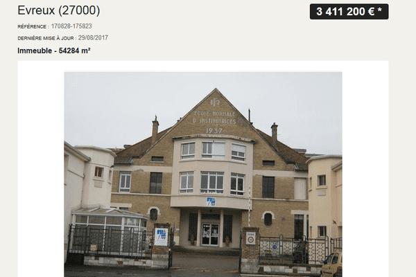 L'agence immobilière Agoraspot a diffusé l'annonce sur plusieurs sites internet.
