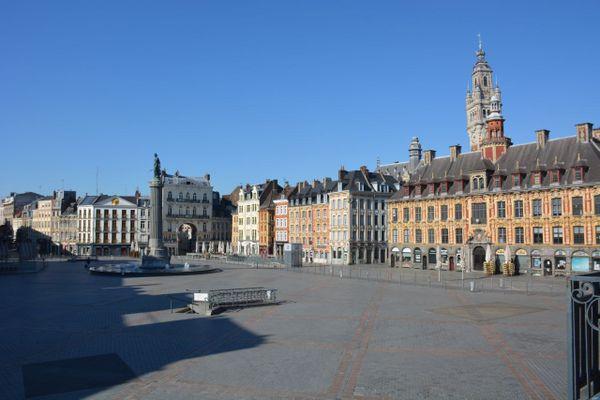 La Grand Place de Lille photographiée au printemps 2020, en plein confinement.