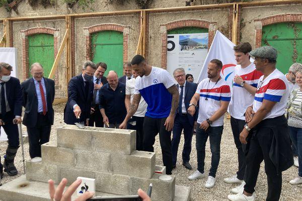 Yannick Noah était présent sur place à Romilly avec David Pecard directeur général des opérations et Marc-Henri Beausire Pdg du Coq sportif.