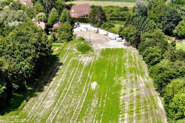 Plobsheim : le terrain où devrait s'implanter le centre de développement et de création dédié au divertissement immersif