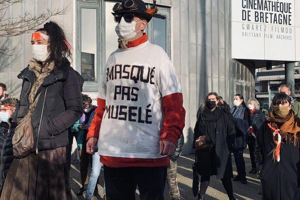 A Brest, lors de la mobilisation des acteurs du milieu culturel en décembre dernier