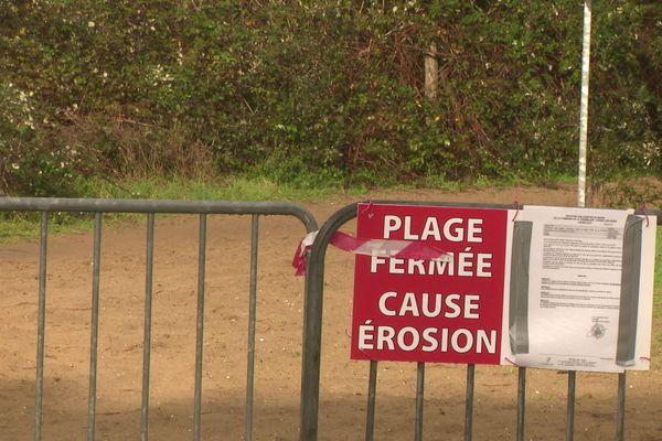 La plage de l'Embellie à La Tremblade est fermée