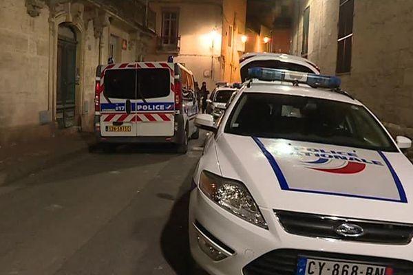 La faculté de droit de Montpellier après les violences. Le 22 mars 2018.