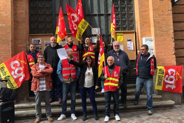Ce matin à 9h30, les syndicalistes n'avaient toujours pas accès aux locaux de la Maison du peuple, malgré la décision de justice.