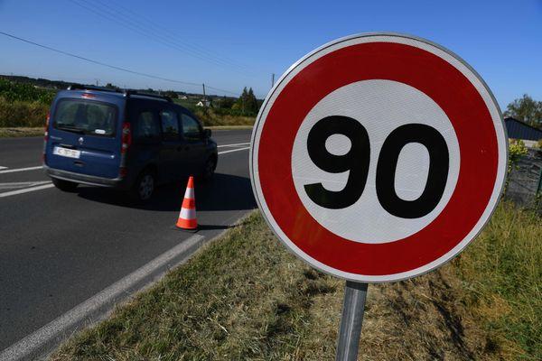 Illustration. Le président du conseil départemental de l'Isère, Jean-Pierre Barbier, s'est dit pour un retour des 90 km/h sur les routes secondaires du département.
