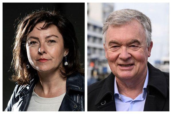 La présidente PS sortante Carole Delga et Jean-Paul Garraud, le candidat tête de liste du Rassemblement National.