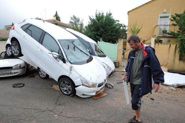 Les dégâts à Grabels après l'épisode Cévenol d'octobre 2014