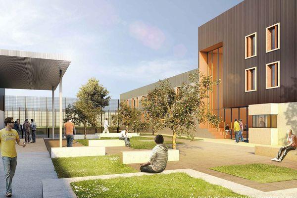 La future prison de Lutterbach (projection du cabinet d'architectes)