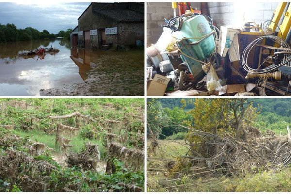Le domaine de La Roquette au Muy : la première crue de 2010 avait déjà fait des dégâts considérables.