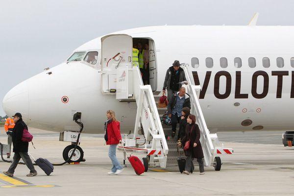 Un avion Volotea à Bordeaux en 2012