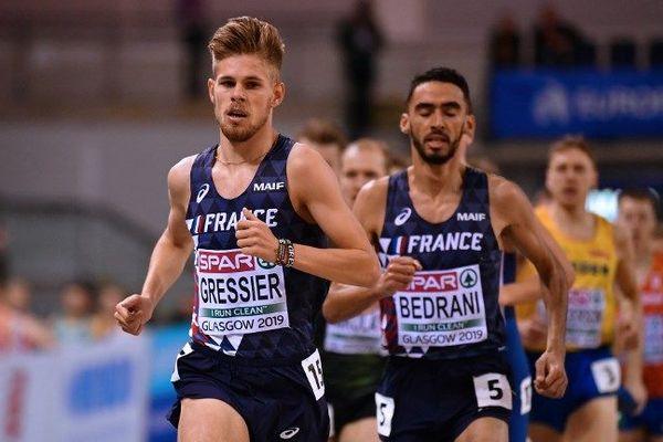 Jimmy Gressier (ici lors des championnats d'Europe en salle à Glasgow) est devenu champion de France espoir de cross dimanche 10 mars.