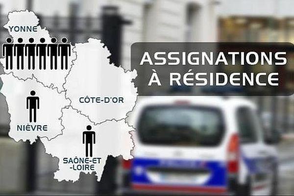A la mi-décembre en Bourgogne, huit personnes sont concernées par les assignations à résidence décidées dans le cadre de l'état d'urgence décrété après les attentats du 13 novembre à Paris.