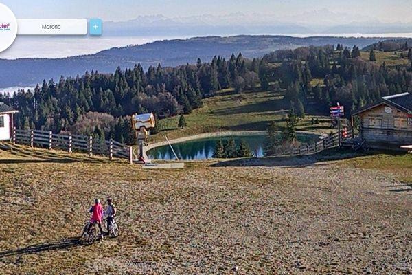 Capture d'écran de la webcam de la station de Métabief, en haut du Morond de la station de Métabief