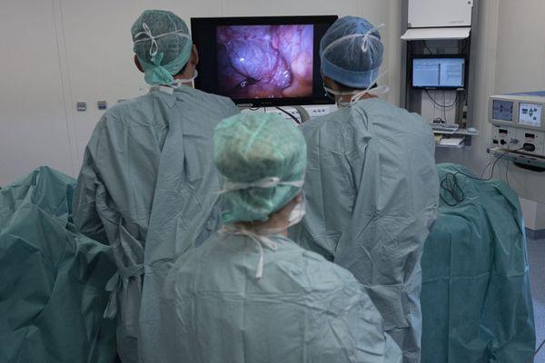 Des chirurgiens du centre Georges-Francois Leclerc, à Dijon.