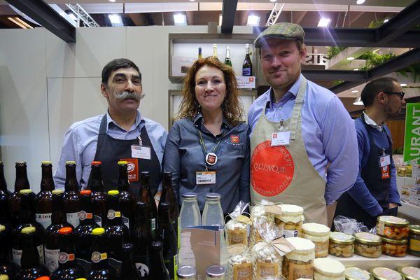 Des producteurs du Nord Pas-de-Calais sur le stand Nord Pas-de-Calais Picardie du Salon de l'Agriculture.