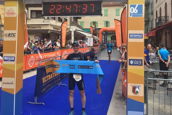 Sébastien Camus remporte l'édition 2018 de l'ultra-trail Côte d'Azur Mercantour en 22h et 44 minutes