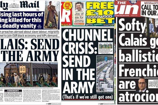 Quelques unes des tabloïds anglais ce jeudi matin.
