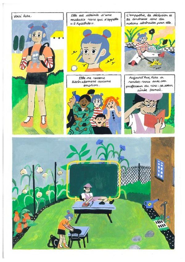 """planche 1 premier prix """"jeunes talents"""" Angoulême"""
